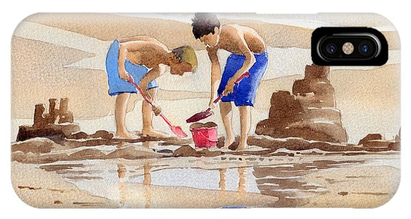 iPhone Case - Sandcastles by Anthony Forster