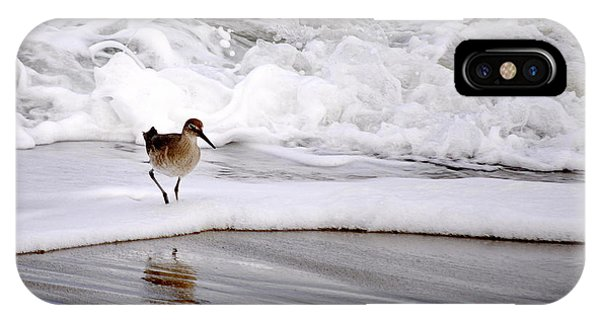 Sandpiper In The Surf IPhone Case
