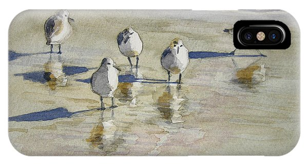 Sandpipers 2 Watercolor 5-13-12 Julianne Felton IPhone Case
