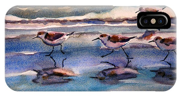 Sandpipers Running In Beach Shade 3-10-15 IPhone Case