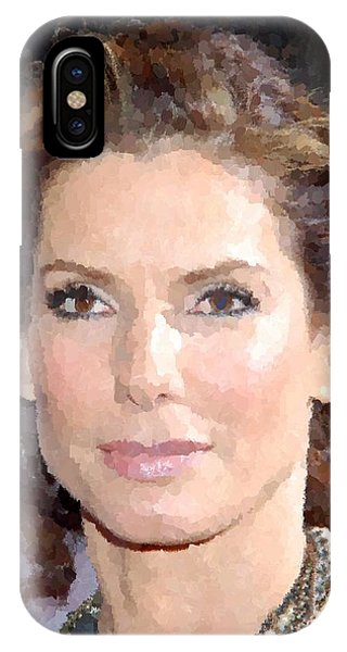 Sandra Bullock Portrait IPhone Case
