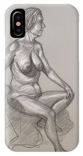 Sandra Seated #3 IPhone Case