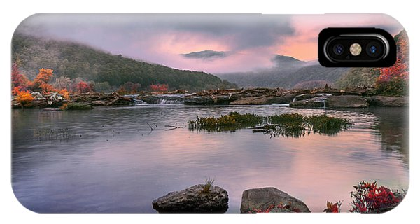 Sandstone Falls At Dawn IPhone Case
