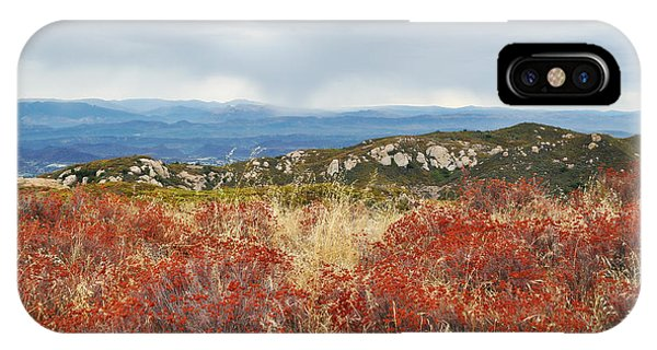 Sandstone Peak Fall Landscape IPhone Case