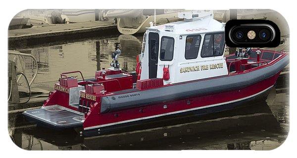 Sandwich Cape Cod Fire Rescue Boat IPhone Case