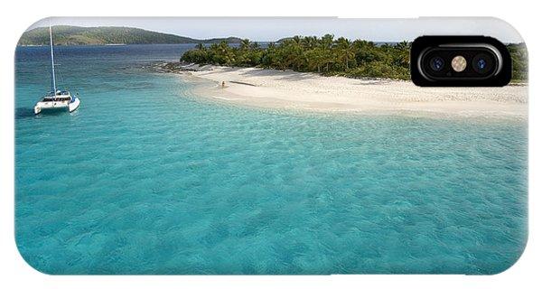 Catamaran iPhone Case - Sandy Cay Bvi by Bryan Allen