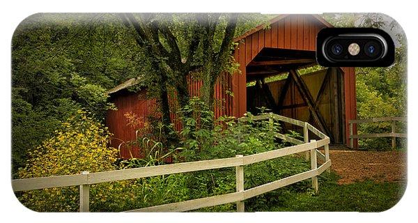 Sandy Creek Bridge Near Hillsboro Mo Dsc06888 IPhone Case