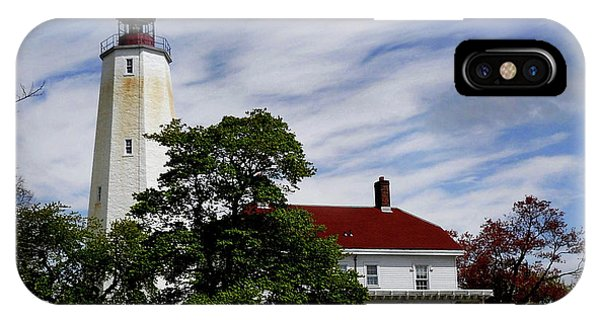 Lighthouse Wall Decor iPhone Case - Sandy Hook Lighthouse Nj by Skip Willits