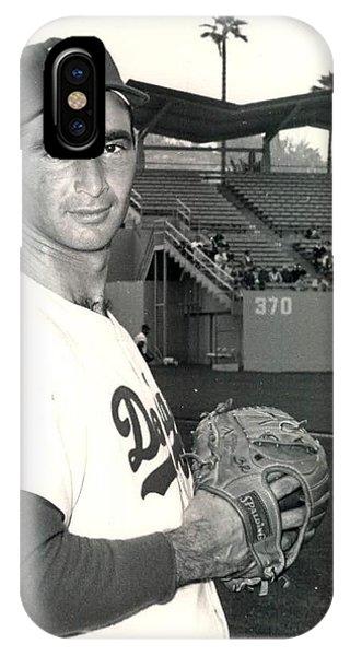 Sandy Koufax Photo Portrait IPhone Case
