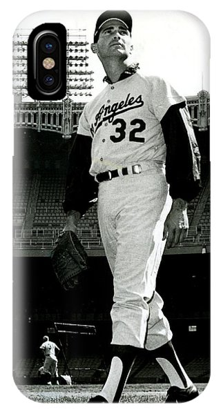 Sandy Koufax Vintage Baseball Poster IPhone Case