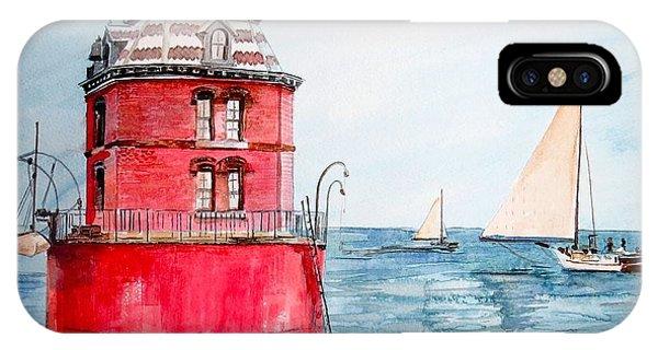 Sandy Point Lighthouse 2 IPhone Case