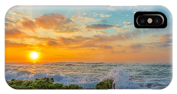 Sandy Beach Sunrise 3 IPhone Case