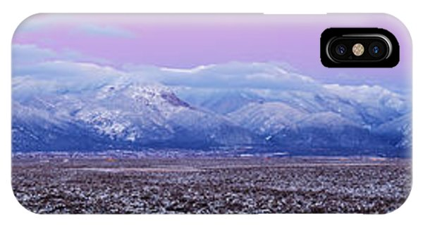 Sangre De Cristo iPhone Case - Sangre De Cristo Range After Sunset by Panoramic Images