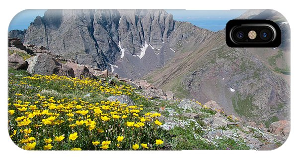 Sangre De Cristos Crestone Peak And Wildflowers IPhone Case