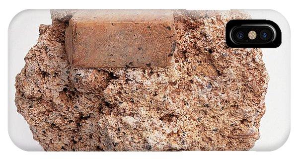 Sanidine On Trachyte Lava Groundmass Phone Case by Dorling Kindersley/uig