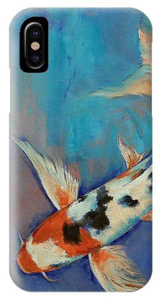 Koi iPhone Case - Sanke Butterfly Koi by Michael Creese