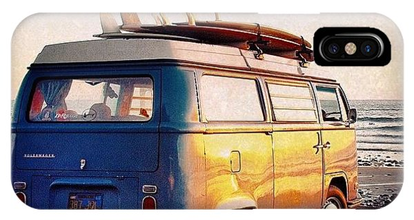 Vw Bus iPhone Case - Surf Parking by Hal Bowles