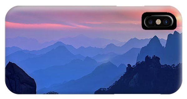 Layer iPhone Case - Sanqing Mountain Sunset by Mei Xu
