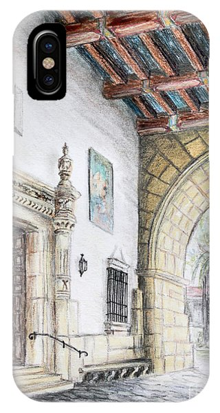 Santa Barbara Courthouse Arch IPhone Case