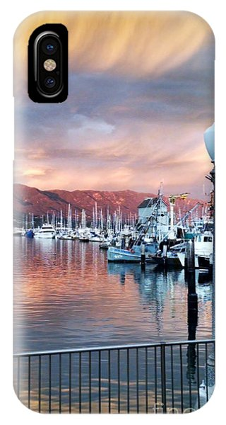 Santa Barbara Harbor Sunset IPhone Case