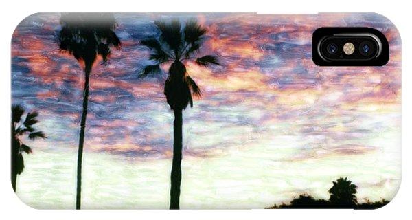 Santa Barbara Palm Sunrise IPhone Case