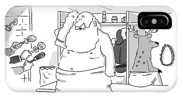 Santa Claus Is In A Locker Room Speaking IPhone Case