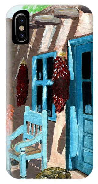 Adobe iPhone Case - Santa Fe Courtyard by Karyn Robinson