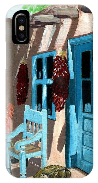 Santa Fe Courtyard IPhone Case