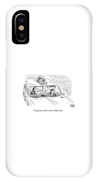 Santa In The Back Of A Cab IPhone Case