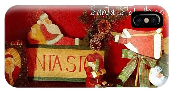 Holiday iPhone Case - Santa Is Sure To Stop Here! #altphoto by Teresa Mucha