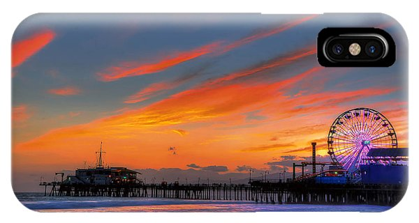 Santa Monica Pier At Dusk IPhone Case