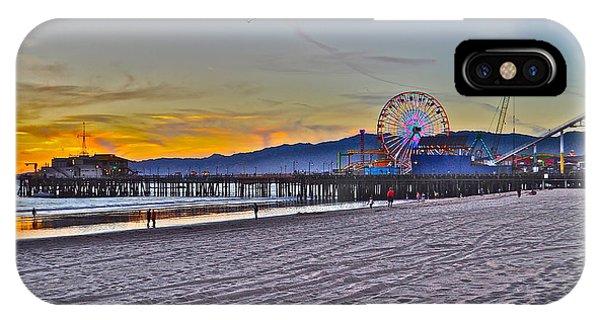 Santa Monica Pier At Dusk IPhone Case