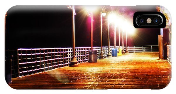 Santa Monica Pier At Night IPhone Case