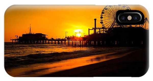 Santa Monica Pier California Sunset Photo IPhone Case