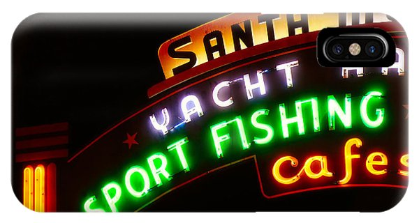 IPhone Case featuring the photograph Santa Monica Pier Sign by Michael Hope