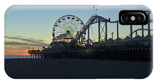Santa Monica Pier Sunset IPhone Case