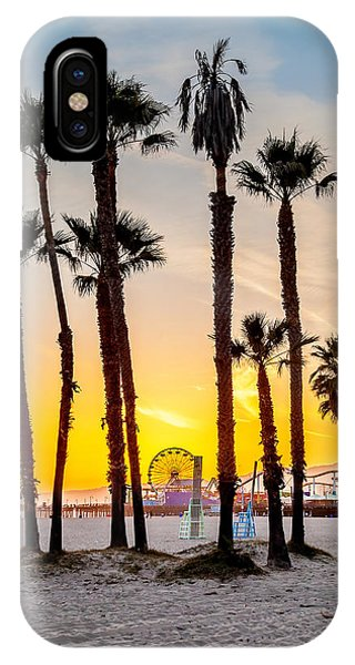 California iPhone Case - Santa Monica Palms by Az Jackson