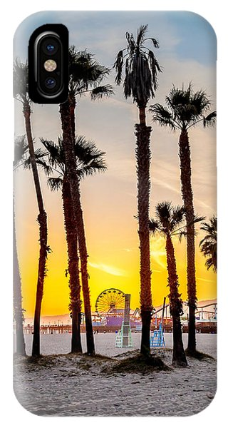 Santa Monica Palms IPhone Case