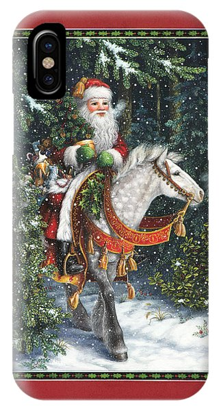 Santa Claus iPhone Case - Santa Of The Northern Forest by Lynn Bywaters