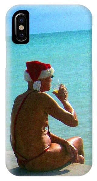 Santa On Vacation IPhone Case
