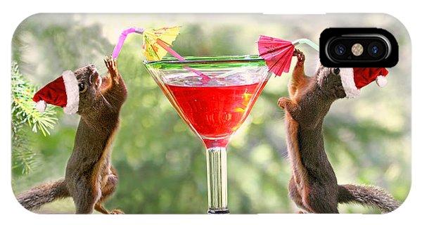 Santa Squirrels Celebrating Christmas IPhone Case