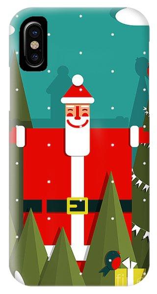 Santa Claus iPhone Case - Santa With Gifts And Presents In Woods by Popmarleo