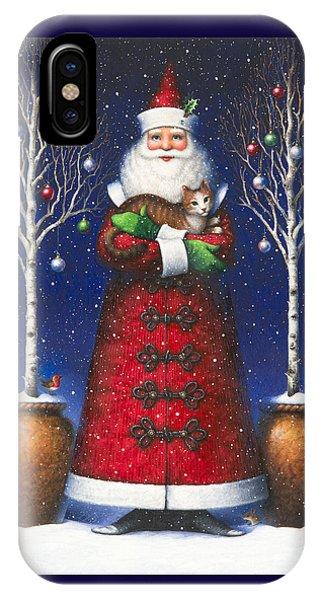 Santa's Cat IPhone Case