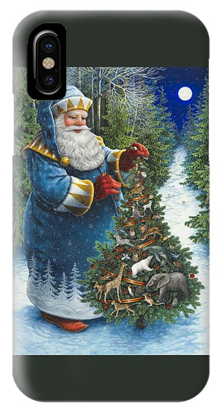 Santa's Christmas Tree IPhone Case
