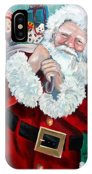 Santa's Coming To Town IPhone Case