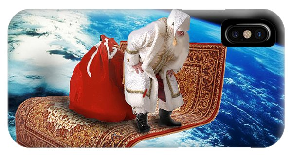 Santa's Flying Carpet IPhone Case