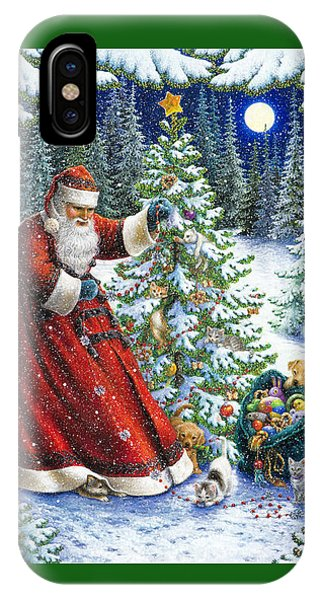 Santa Claus iPhone Case - Santa's Little Helpers by Lynn Bywaters
