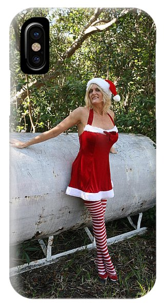 Santa's Naughty Lil' Helper 1345 IPhone Case