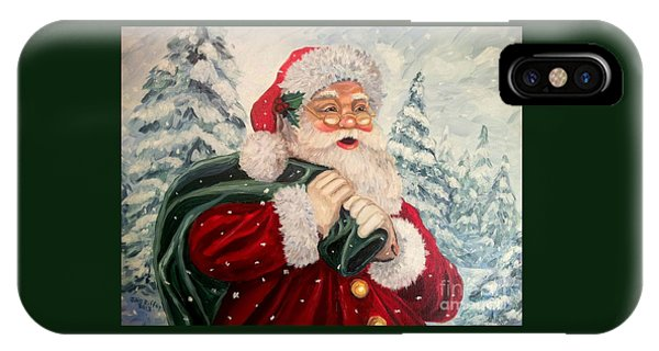 Santa's On His Way IPhone Case
