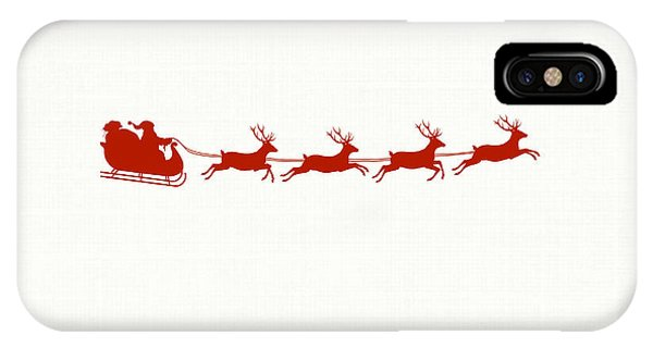 Holiday iPhone Case - Santa's Sleigh by Chastity Hoff